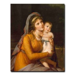 101g_Vigee Le Brun Elisabeth-Louise - Portrait of Countess Anna Stroganova with Her Son