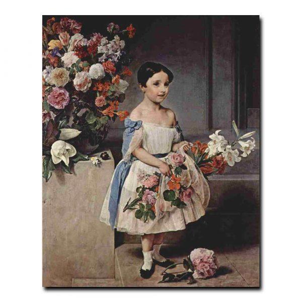 104ch_Хайес франческо Портрет Антонетты Негрони Морозини в детстве