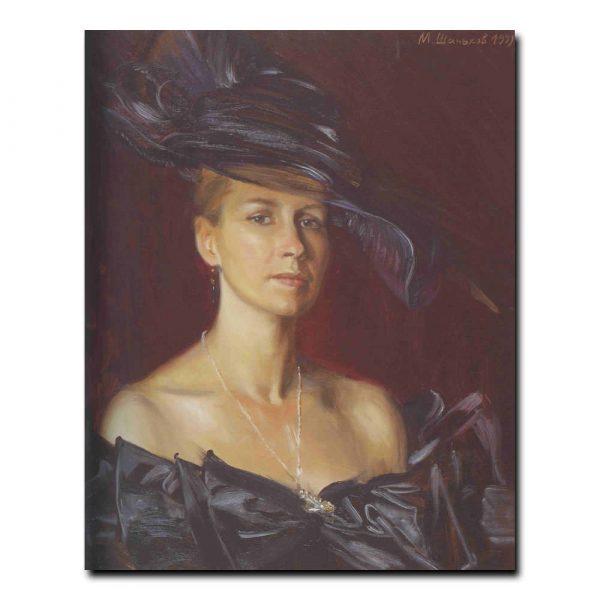 112w_Михаил Шаньков Портрет А.А.Шаньковой,жены художника
