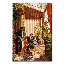 121g_Федор Славянский Семейная картина на балконе
