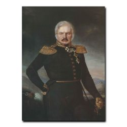 134m_Петр Захаров-Чеченец Портрет Алексея Петровича Ермолова