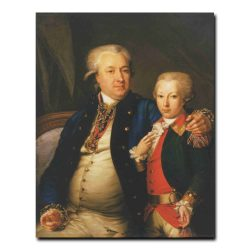 137g_Леонтий Миропольский Портрет неизвестного с сыном