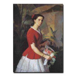 166w_Фома Торопов Портрет жены художника