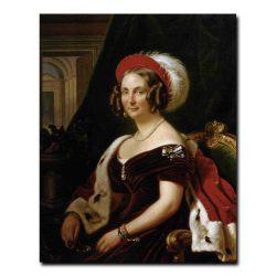 167w_Франц Крюгер Портрет Фредерики,герцогини Ангальт-Дессауской,сестры Александры Федоровны