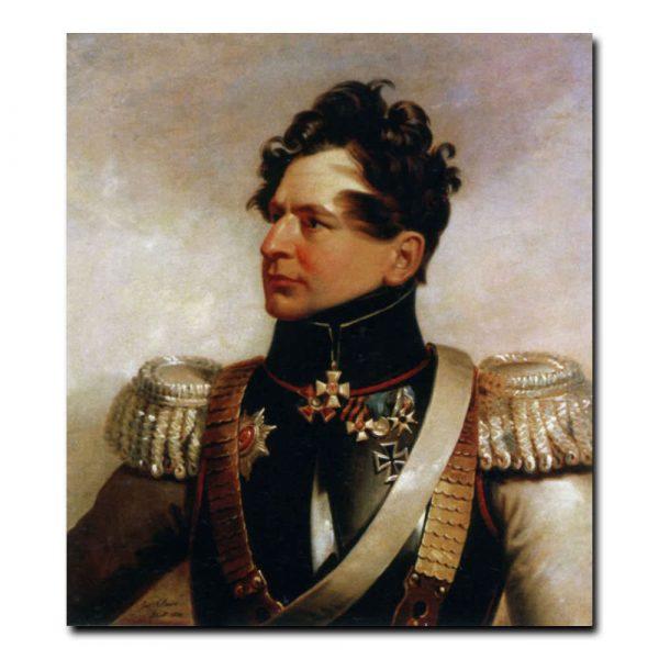 219m_Джордж Доу Портрет генерала - майора И.С. Леонтьева первого,участника отечественнй войны