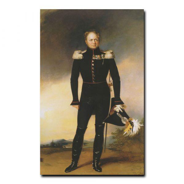 220m_Джордж Доу Портрет императора Александр первого