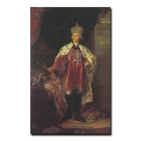 225m_Владимир Боровиковский Портрет Павла первого в костюме гроссмейстера Мальтийского ордена