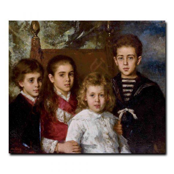 Portrait of the children of Paul Pavlovich Demidoff