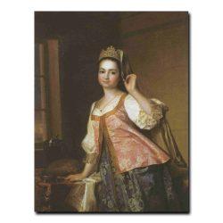 305w_Дмитрий Левицкий Портрет Агафьи Дмитриевны Левицкой,дочери художника