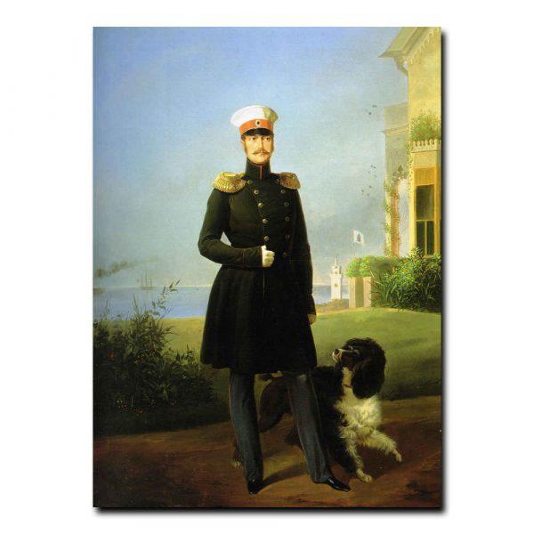 319m_Франц Крюгер Портрет императора Николая первого