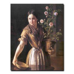 324w_Василий Тропинин  Девушка с горшком роз