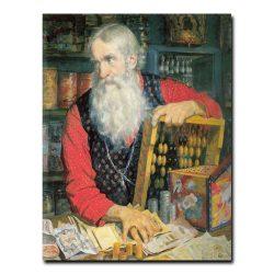 326m_Борис Кустодиев Купецц (старик с деньгами)