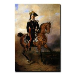 328m_Василий Тимм Портрет императора Николая первогона коне