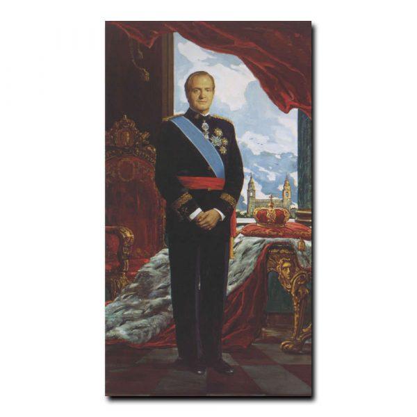341m_Илья Глазунов Портрет короля Испании Хуана Карлоса первого