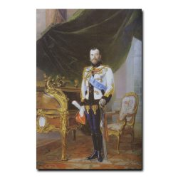344m_Эрнест Липгарт Портрет императора Николая второго