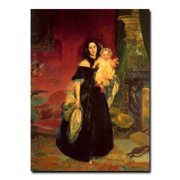 37g_Карл Брюлов Портрет Марии Аркадьевны Бек с дочерью Марией Аркадьевной Бек