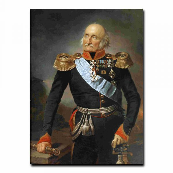 37m_Франц Крюгер Портрет фельдмаршала графа Петра Христиановича Витгенштейна