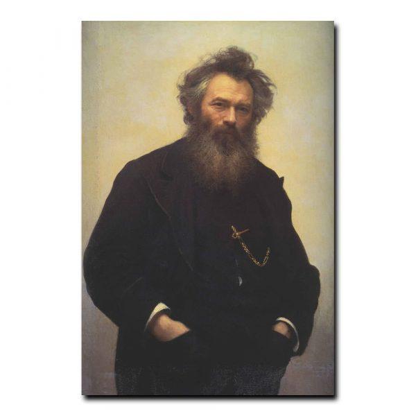 384m_Иван Крамской Портрет художника Ивана Ивановича Шишкина
