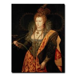 Sixteenth Century Painting of Portrait of Queen Elizabeth I of England