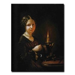 413w_Василий Тропинин Девушка со свечей