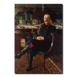 435m_Bogdanov-Belsky Nikolai Petrovich - Portrait of the Adjutant-General P. P. Gesse
