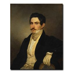 439m_Bryullov Karl Pavlovich - Portrait of N.A. Okhotnikov