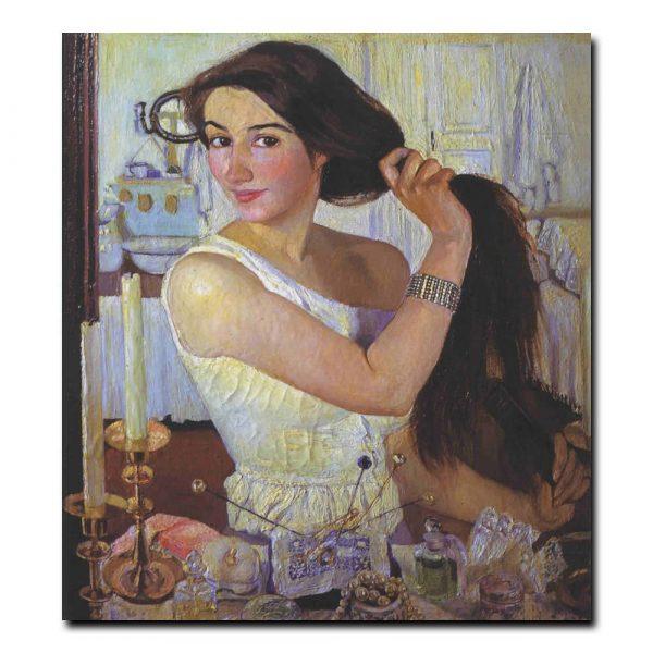 43w_Зинаида Серебрякова За туалетом.Автопортрет