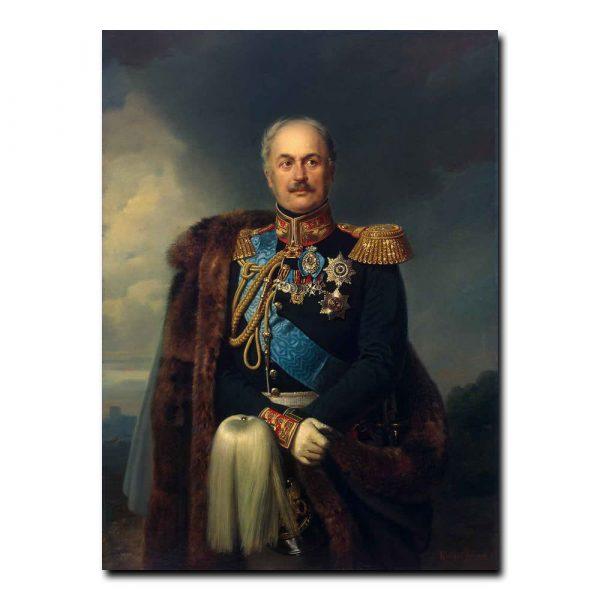 453m_Kruger Franz - Portrait of Pavel Kiselyov