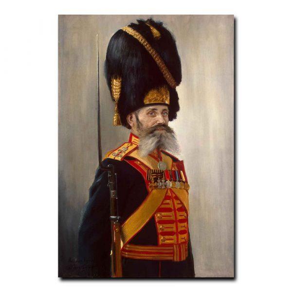 459m_Poyarkov Vladimir Alexandrovich - Portrait of the Court Grenadier M. Kulakov