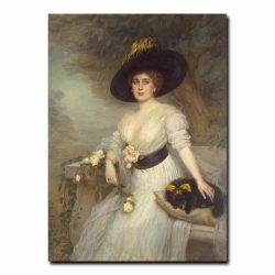 49w_Shtemberg Victor Karlovich - Portrait of Baroness D. E. Grevenits