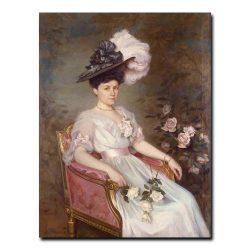 50w_Shtemberg Victor Karlovich - Portrait of S. M. Rayevskaya
