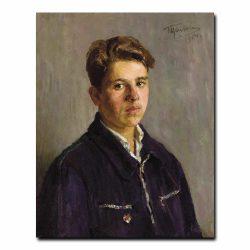 56m_GRIGORI TSEITLIN (Russian, 1911-1997). Portrait of a Student, 1954
