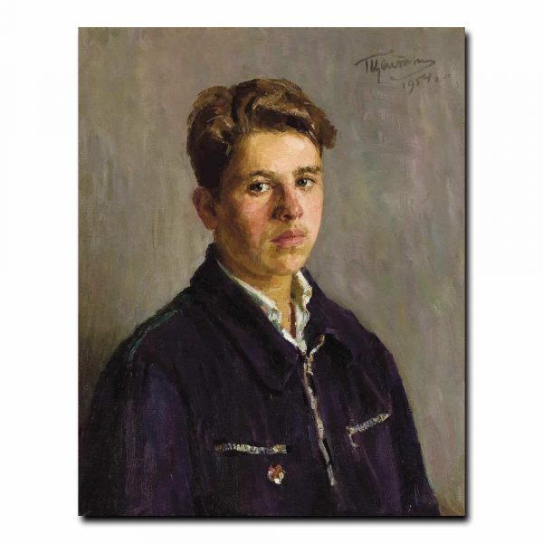 56m_GRIGORI TSEITLIN (Russian, 1911-1997). Portrait of a Student, 1954