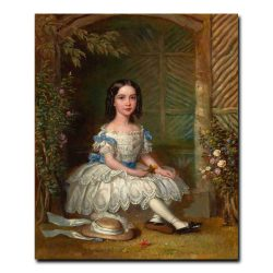 70ch_PROPERTY OF A LADY. BRITISH SCHOOL (19th Century). Portrait of a Girl  1