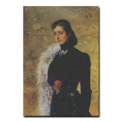 75w_Константин Маковский Портрет В.Носовой (жены Бахрушина)