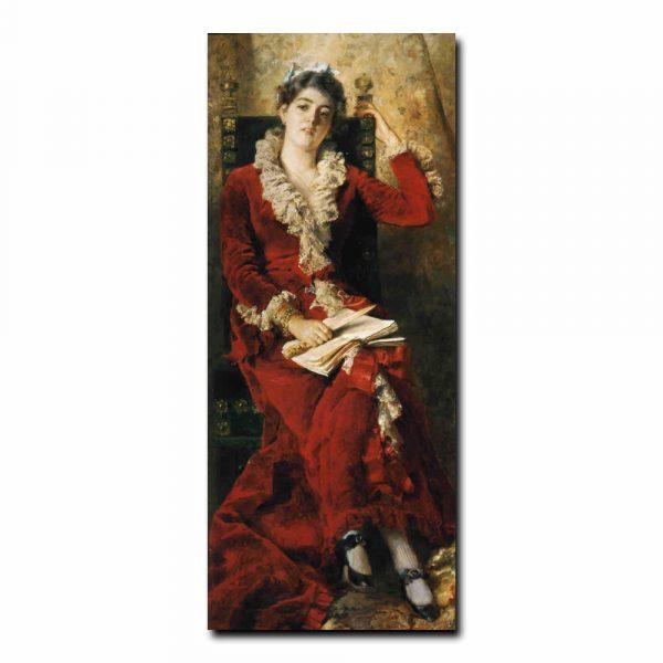 77w_Константин Маковский Портрет жены художника Юлии Павловны Маковской