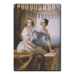 78g_Тимофей  Нефф Портрет великих княжон Марии Николаевны и Ольги Николаевны
