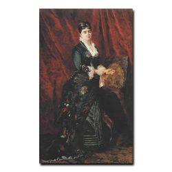 81w_Константин Маковский Портрет молодой женщины в темно зеленом платье