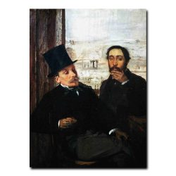 Portrait of Degas and Evariste de Valernes by Edgar Degas