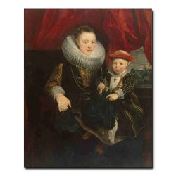 94g_Dyck Anthony van - Portrait of a Young Woman with a Child