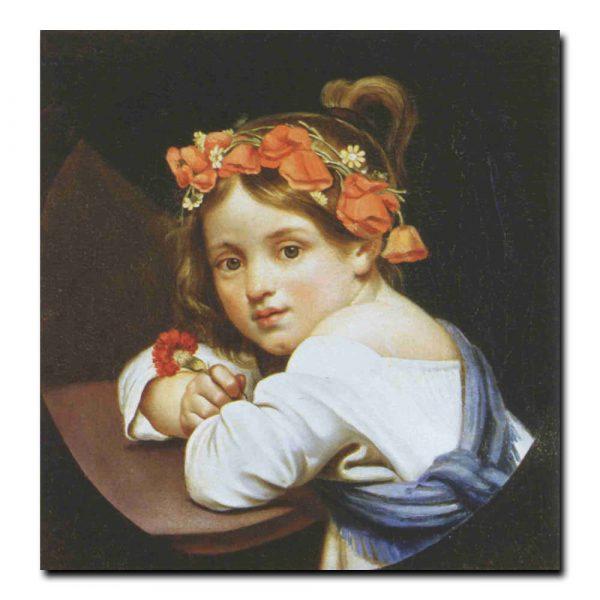 98ch_Орест Кипренский Девочка в маковом венке с гвоздикой
