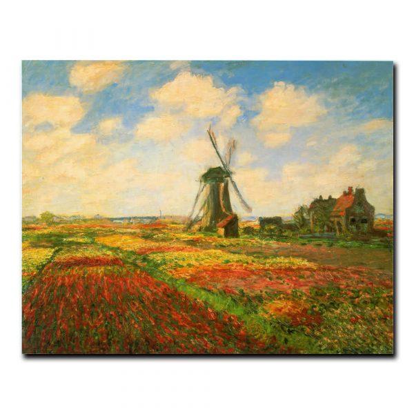 Поле тюльпанов и мельница Клод Моне (Claude Monet)