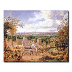 Девушки и вид города (A Fete and View of a City). Гриффер Ян (Jan Griffier)