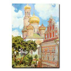 Симонов монастырь. Облака и золотые купола Васнецов Аполлинарий Михайлович