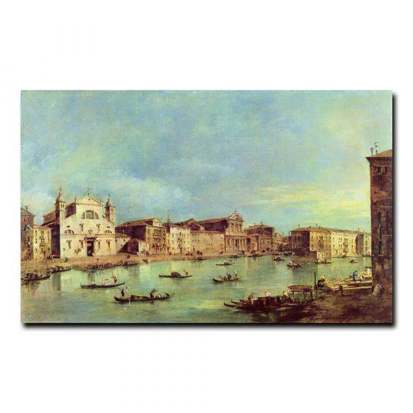 Вид на Большой канал между Санта Лючия и Скальци Франческо Гварди (Francesco Guardi)