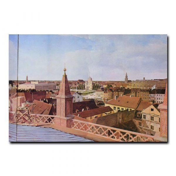 Панорама Берлина с крыши Фридрихсвердерской церкви Эдуард Гертнер (Eduard Gaertner)