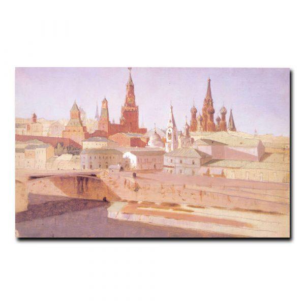 Вид на Москворецкий мост, Кремль и храм Василия Блаженного Куинджи Архип Иванович
