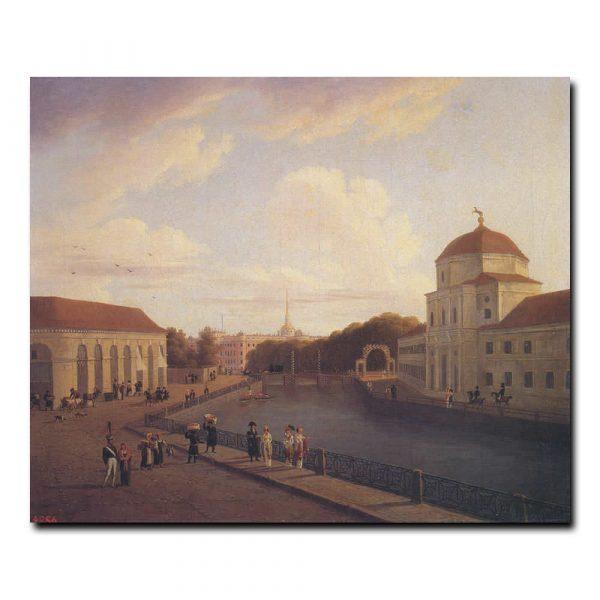 Вид Михайловского замка в Петербурге Мартынов Андрей Ефимович