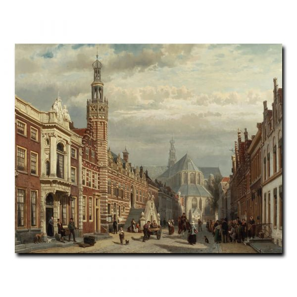 Вид церкви Святого Лоуренса в Алкмар Корнелис Спрингер (Cornelis Springer)