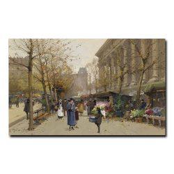 Цветочный рынок у Ла Мадлен Эжен Гальен-Лалу (Eugene Galien-Laloue)